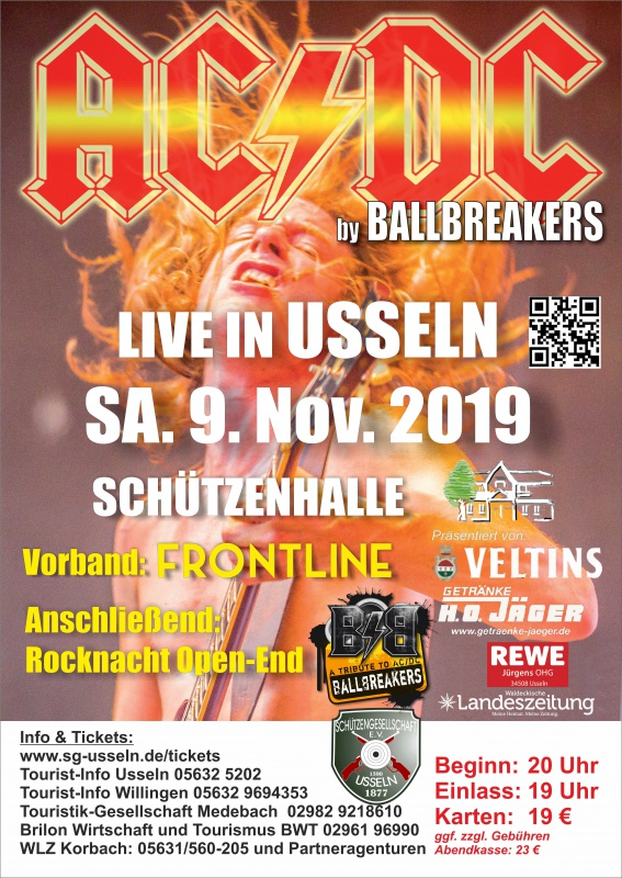 AC/DC Coverband Ballbreakers in Willingen-Usseln